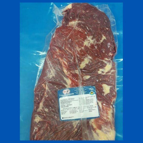 Beef pecho brisket